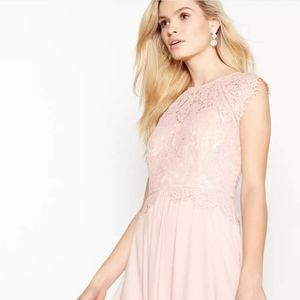 NWT Debut Rose Pink Olivia Floral Lace Maxi Dress
